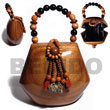 Natural Collectible Handcarved BFJ025ACBAG Shell Necklace Wooden Bags