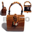 Natural Collectible Handcarved BFJ028ACBAG Shell Necklace Wooden Bags