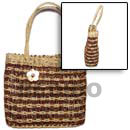 Natural Pandan Lambat Bag With MOP Scallop Shell