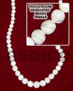Troca Shell Round Graduated Beads In Strands