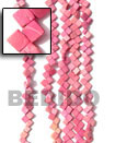 Natural 8x8mm Banig Coco Dyed In Pink BFJ010CSPS Shell Necklace Coco Necklace