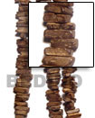 Natural 1 Inch Coco Stick Natural Brown Bead