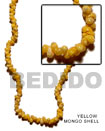 Natural Yellow Mongo Shell In Beads BFJ021SPS Shell Necklace Shell Beads