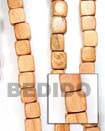 Natural Bayong Dice Wood Beads