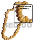 Nassa Yellow Shell Side Drill In Beads