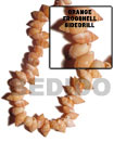 Orange Frog Shell Sidedrill In Beads Strands