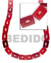 Red Rectangular Beads