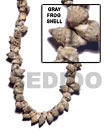 Frog Shell Gray In Beads Strands Or