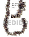 Frog Shell Brown In Beads Strands Or