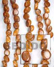 Natural Slidecut Bayong 8x15mm In BFJ067WB Shell Necklace Wood Beads