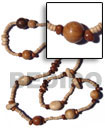 "Natural ""kalandrakas""- Asstd. Wood Beads Per Necklace When"