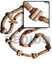 Natural  incheskalandrakas inches- Asstd. Wood BFJ1859NK Shell Necklace Long Endless Necklace