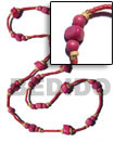 Natural Pink Wood Beads In 2-3mm Red Coco