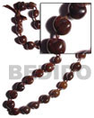 Brown Kukui Nuts Ribbon Lei ( Lumbang