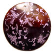 Natural Round 40mm Black Tab   BFJ5272P Shell Necklace Hand Painted Pendant