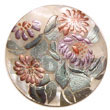 Round 40mm Hammershell W/ Handpainted Design -