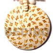 Natural 50mm Round Coco Pendant W/ Tiger Burning