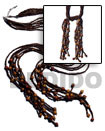 Scarf Necklace - 6 Rows 2-3mm Coco