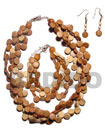 Natural coco side drill set jewelry