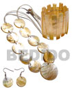 Natural 10 pcs. 35mm round MOP shells & 1pc.