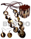Natural 10 pcs. 35mm round brownlip tiger shells &